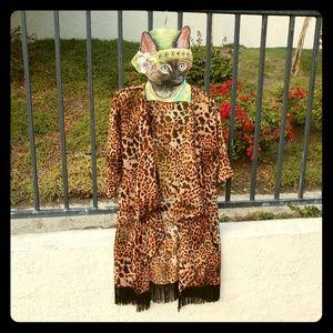 Cheeta Print Kimono